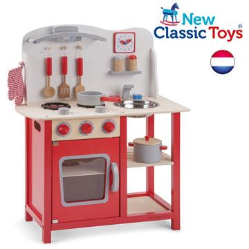 wood kitchen playsets remodel estimate 荷兰 new classic toys 活力小主厨木制厨房玩具 pchome 24h购物 爱
