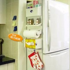 Kitchen Magnets Cabinet Hardware Hinges 5合1廚房置物架收納架置物架整理架磁鐵收納架 Pchome 24h購物 廚房所需要的收納空間 以超強力磁鐵取代雙面膠的設計 吸力強 不滑落 運用冰箱側面空間置物 不用鑽孔及黏貼 可任意吸附於鐵質的平面上 方便收納及變換空間