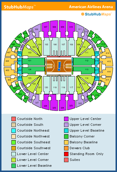 Miami Heat Seating Chart Brokeasshomecom - American airlines arena seat map
