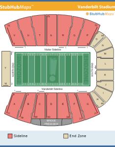 Vanderbilt football stadium seating chart photos also rh footballstadiumsokuranspot
