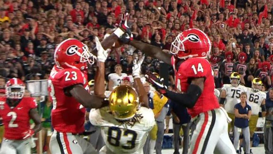 Georgia tested, 'persevered' against Notre Dame - ABC7 Chicago
