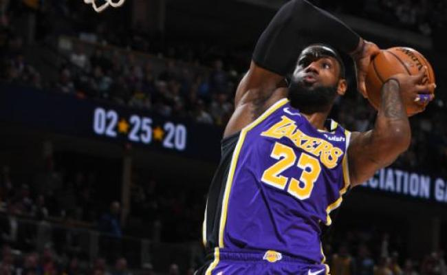 James Triple Double Davis Lead Lakers Past Nuggets 120