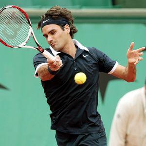 Federer in action