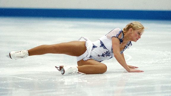 Was she jonesing for that next hit, or looking for the rock she dropped on the ice?