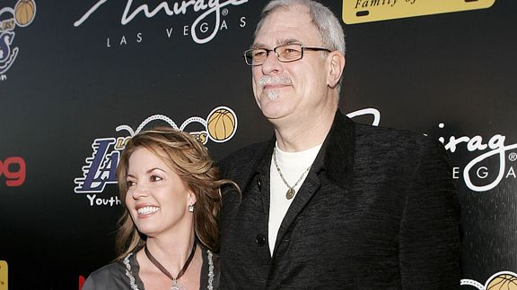Jeannie Buss and Phil Jackson