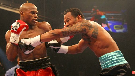 Floyd Mayweather and Shane Mosley