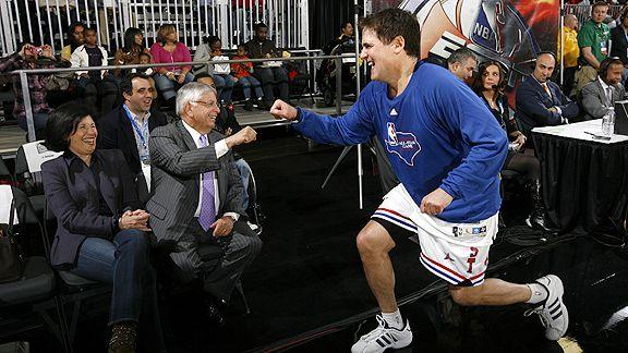 Mark Cuban and David Stern