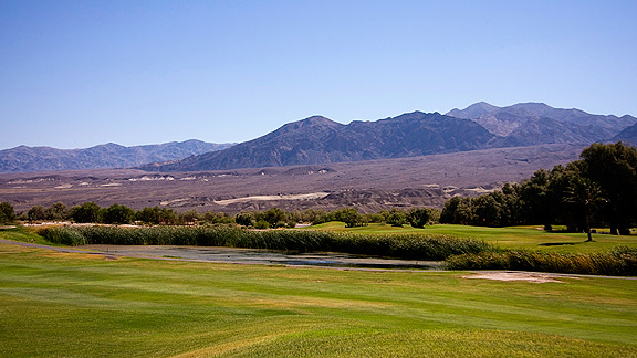 Furnace Creek Golf Course in Death Valley, California