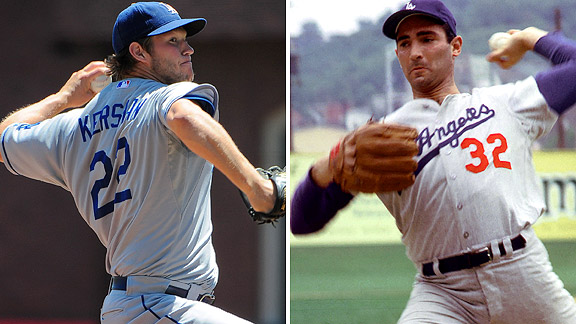 Image result for kershaw koufax