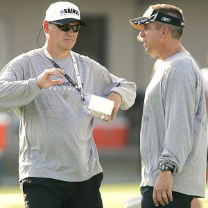 Mickey Loomis and Sean Payton