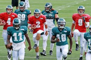 Nick Foles, G.J. Kine, Matt Barkley