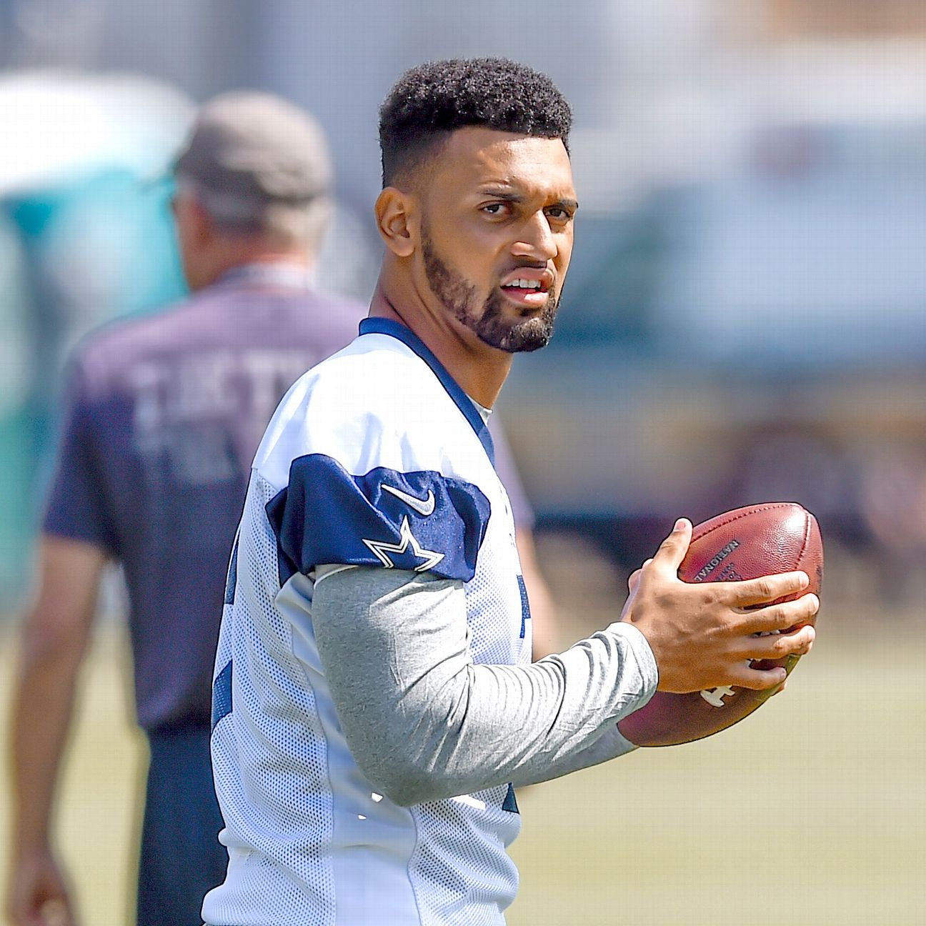 Cowboys Jameill Showers moves to safety but not to active