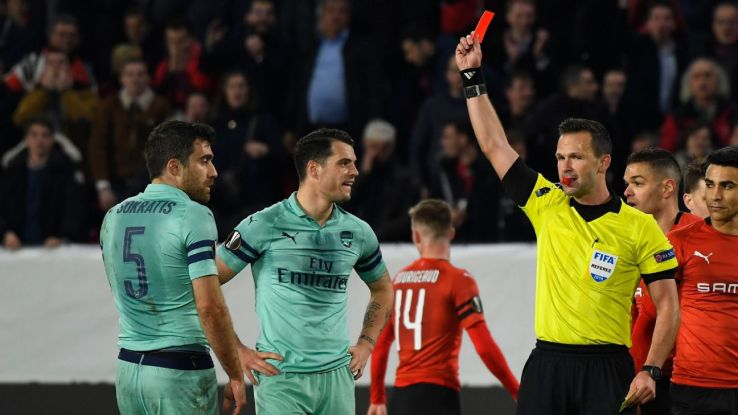 Sokratis Aubameyang 5/10 as Arsenal collapse at Stade Rennes in Europa League