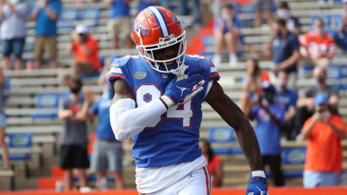 Previo al draft de la NFL, Kyle Pitts se adueña del pro day de Florida