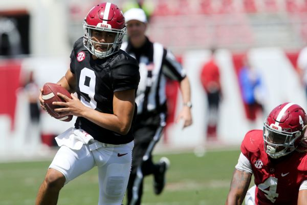 QB Young shines in Tide spring game, nabs MVP