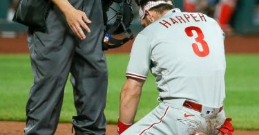 Harper 'all good' after 96.9 mph heater to face