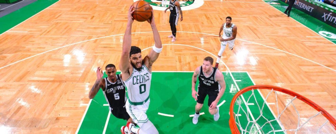 Tatum drops 60, rallies C's from 32-point deficit
