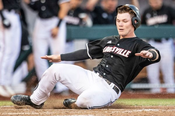 R878727 600X400 3 2 Pittsburgh Pirates Draft Louisville Catcher Henry Davis With No. 1 Pick; Jack Leiter Goes To Texas Rangers At No. 2
