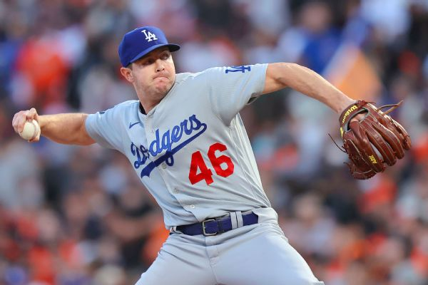 Dodgers to start reliever Knebel in NLCS Game 1