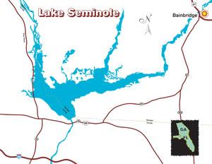 Largemouth bass fishing bass fishing tournaments and tackle for Lake seminole fishing