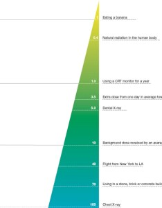 Radiation detail also infographic of the day best chart we  ve seen so far rh fastcompany