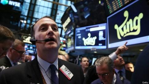 King en la Bolsa de Nueva York.