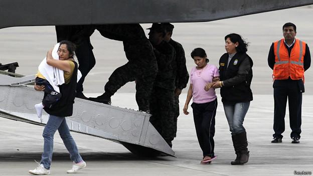 Exrehenes de Sendero Luminoso llegan a Lima