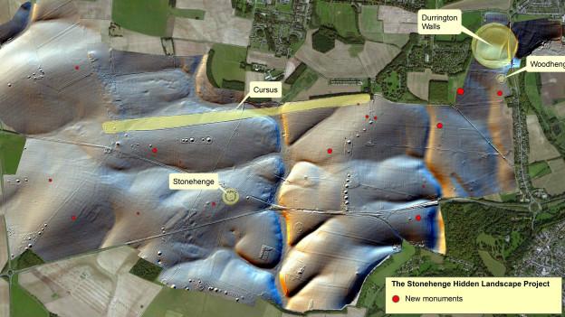Mapa digital de Stonehenge