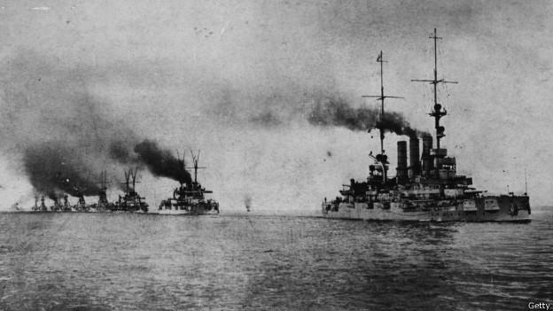 Batalla naval en la I Guerra Mundial