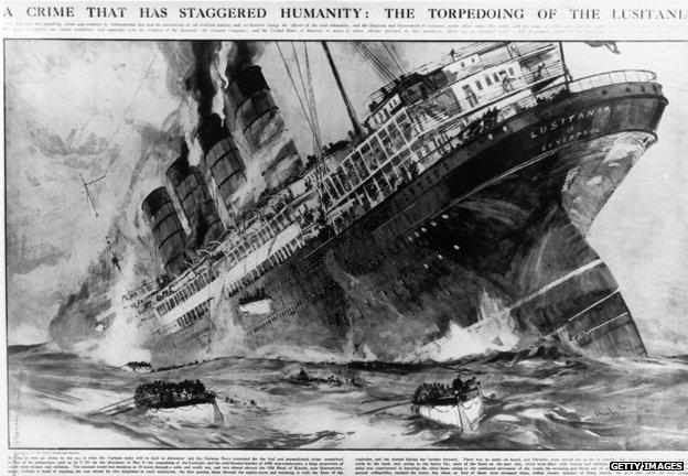 Hundimiento del RSM Lusitania