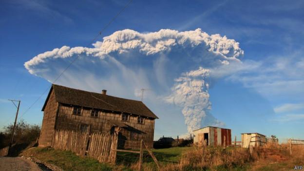 Volcán en Chile