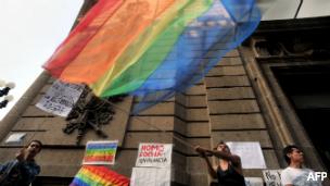 Festejo por matrimonios gay en México