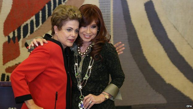Dilma Rousef y Cristina Kirchner