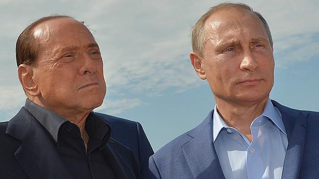 Vladimir Putin, presidente de Rusia, y Silvio Berlusconi, exprimer ministro de Italia