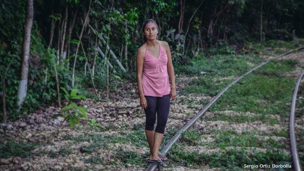 Migrante centroamericana