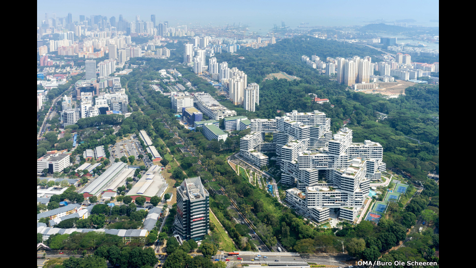 Una urbanización vertical en Singapur.