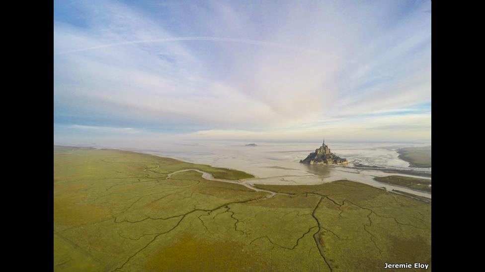 Monte Saint Michel en Normandia, Francia