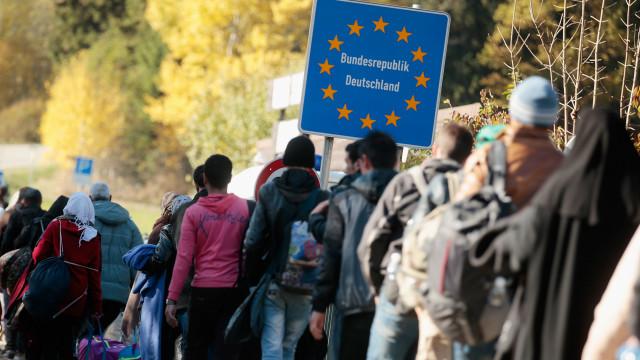 Refugiados en la frontera de Alemania