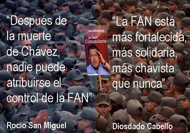 Dos visiones de la Fuerza Armada venezolana