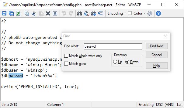 Download the program winscp