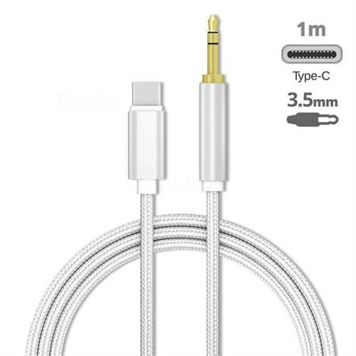 Audio Jack 3.5mm Male to Type-C Male Cable USB C to 3.5mm