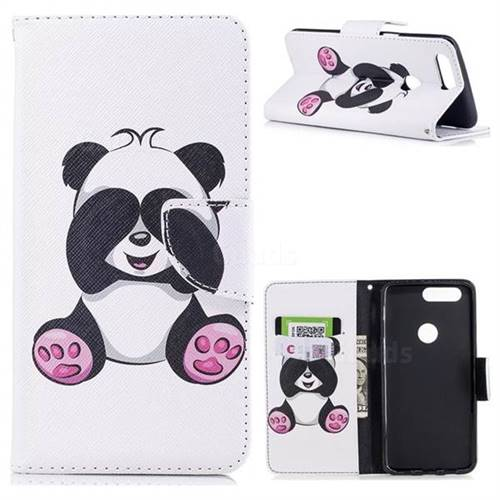 Lovely Panda Leather Wallet Case for OnePlus 5T - Leather Case - Guuds