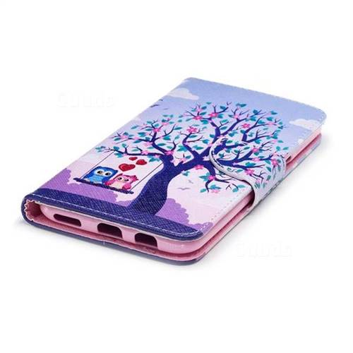 Tree and Owls Leather Wallet Case for OnePlus 5T - Leather Case - Guuds