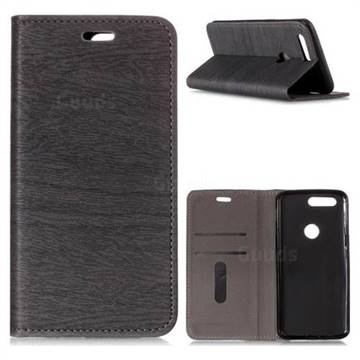 Tree Bark Pattern Automatic suction Leather Wallet Case for OnePlus 5T - Gray - Leather Case - Guuds