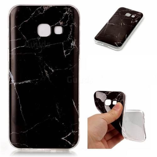 Black Soft TPU Marble Pattern Case for Samsung Galaxy A5 2017 A520 - TPU Case - Guuds