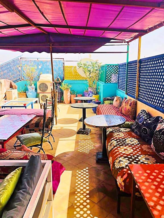 Rooftop terrace in Riad Dia in Marrakech