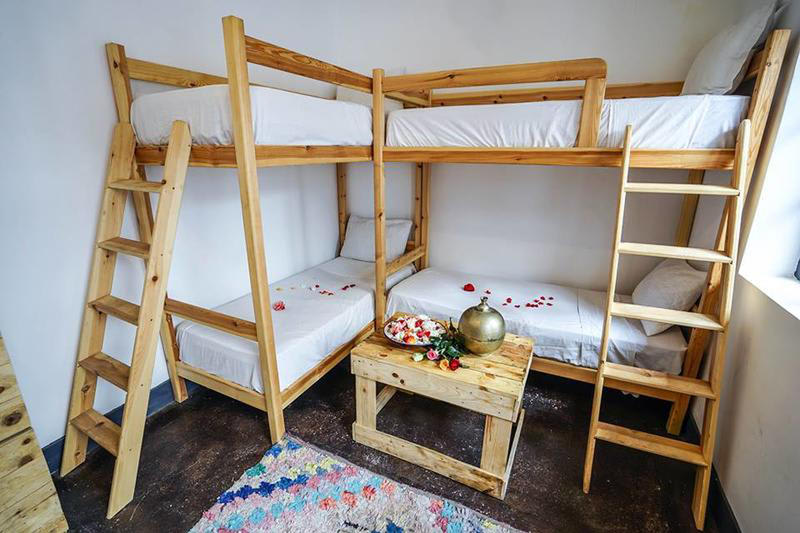 Shared dormitory in Dream Kasbah Hostel in Marrakech