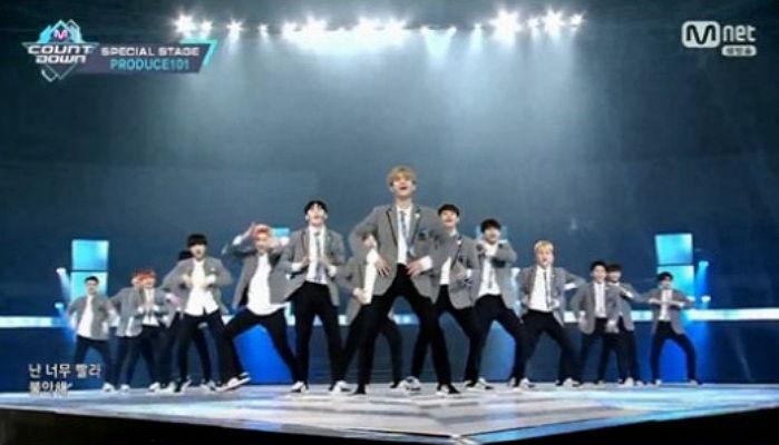 《Produce101》第二季男生版Pick Me表演舞臺 首次在《M! CountDown》公開啦! - KSD 韓星網 (綜藝)