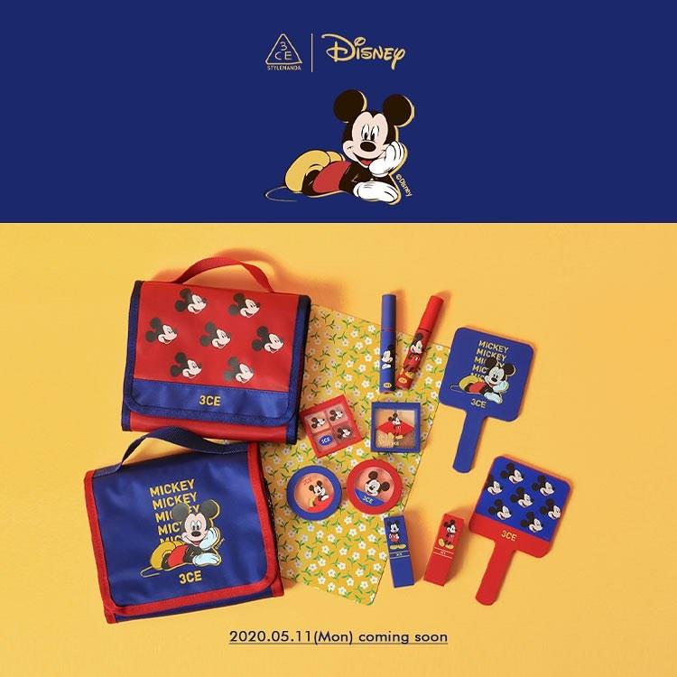 《3CE X Mickey Mouse》多款聯名商品還有米奇快閃店 - KSD 韓星網 (生活)