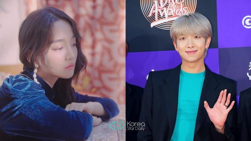 防彈少年團 RM 與高潤荷(Younha)合作的新歌《雪中梅》奪下各大音源榜的一位 - KSD 韓星網 (KPOP)